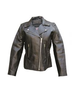 Ladies Motocycle Jacket With Braid