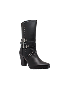 Women's Side Zipper Harness Boot