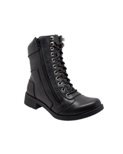 Women's Zipper Biker Boot