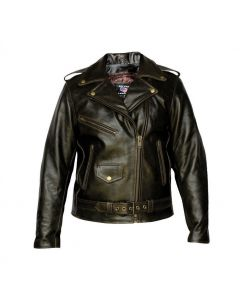 Ladies Retro Brown Motocycle Jacket