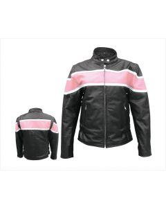 Ladies Two Tone Jacket Pink / Black
