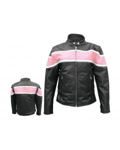 Ladies Two Tone Jacket Pink / Black