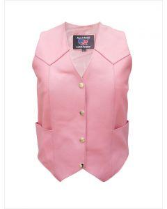 Ladies Pink Basic Vest