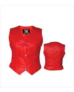 Ladies Red Plain Vest