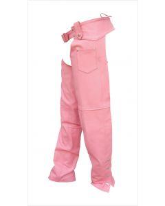 Ladies Pink Plain Chaps
