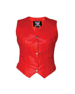 Ladies Red Plain Vest