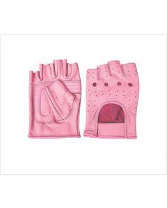 Ladies Pink Fingerless Gloves