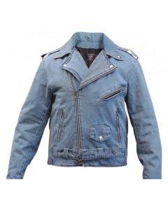 Denim Motorcycle Jacket For Men