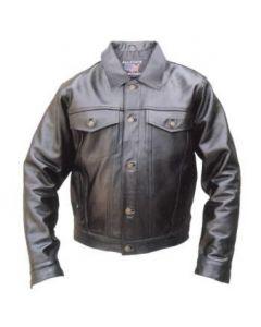 Men's Denim Style Premium Leather Jacket