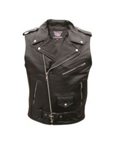 Sleeveless Motorcycle Jacket For Men