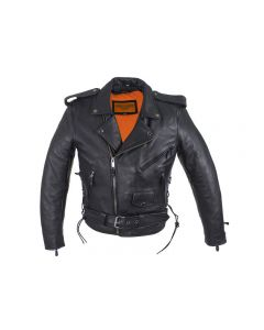 Mens Motorcycle Jacket With 1 Piece Panel For Patches