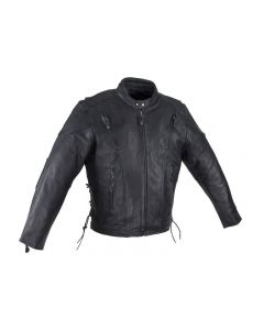 Mens Racer Jacket With Neck Warmer