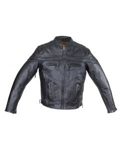 Men's Reflective Leather Concealed Carry Jacket