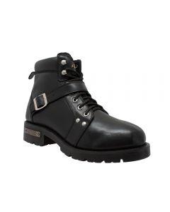 Men's YKK Zipper Biker Boot-Black