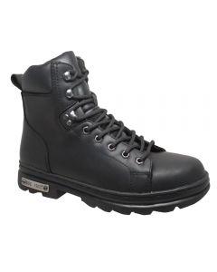 "Men's 6"" Zipper Lace Biker Boot"
