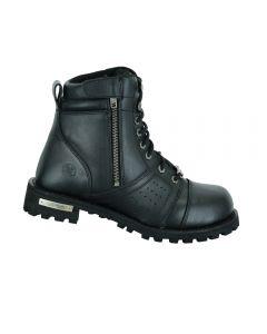 Men's 6'' Side Zipper Plain Toe Boot W/Perforation