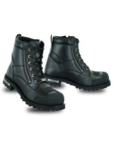 Leather Waterproof Ankle Protection Boots Side Zipper
