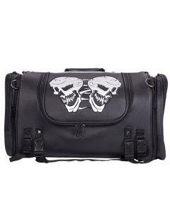 Medium Motorcycle Sissy Bar Bag / Trunk With Skull
